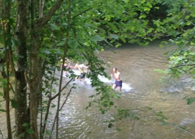 Fractionné rivière - Départ